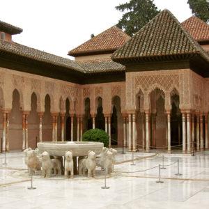 detalle alhambra patio leones